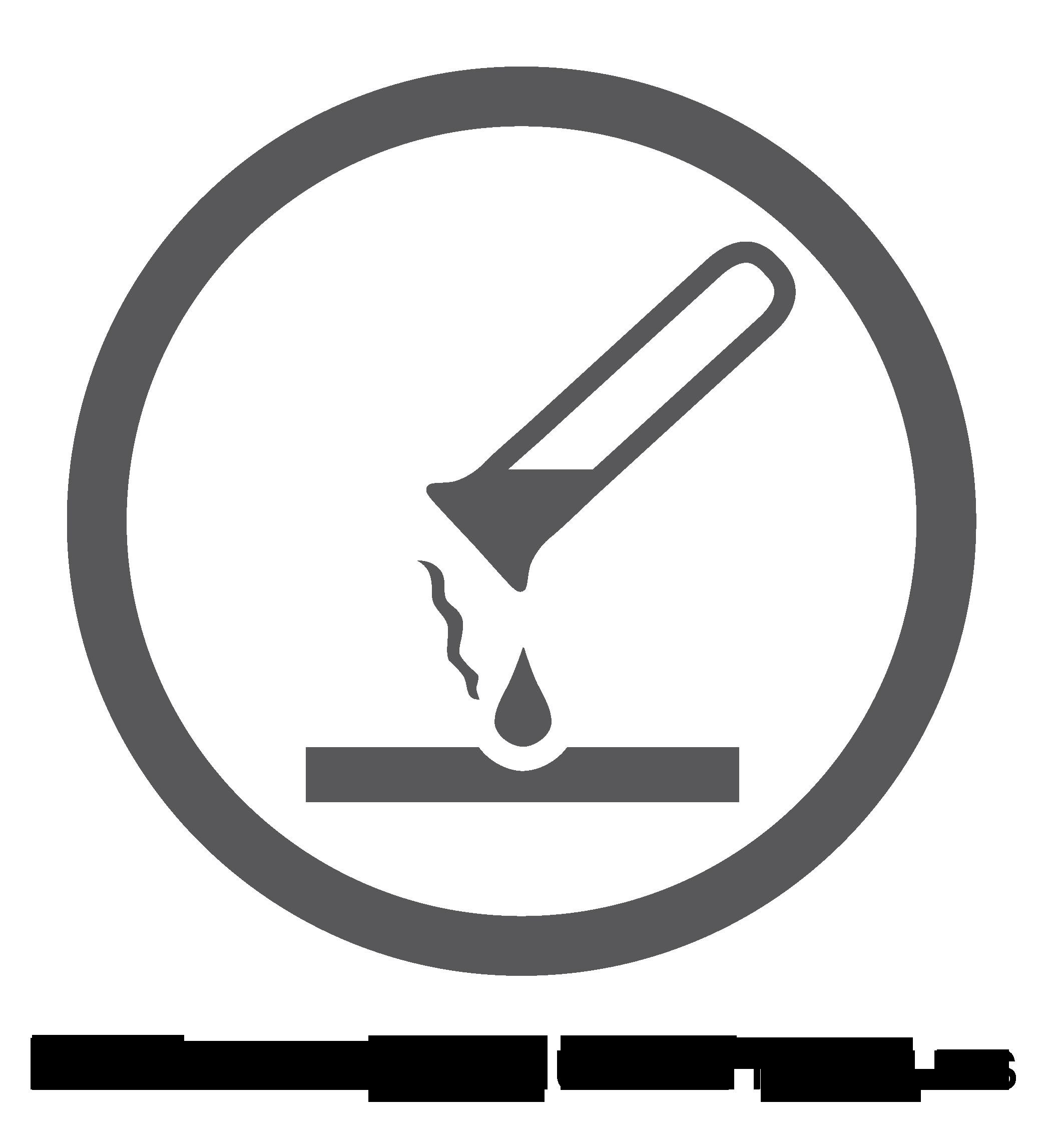 Logo surface résistante aux produits chimiques
