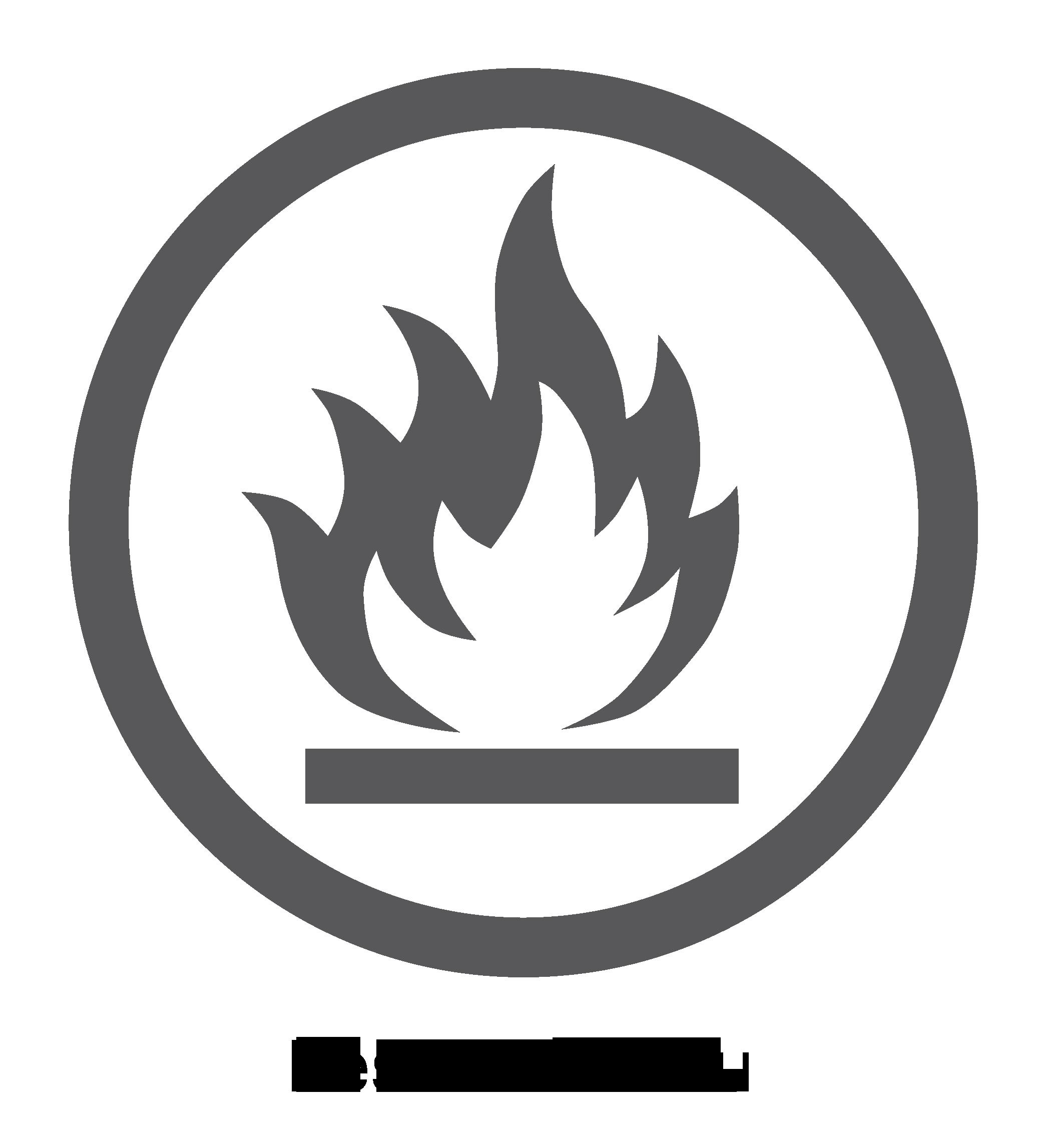 Logo surface résistante au feu