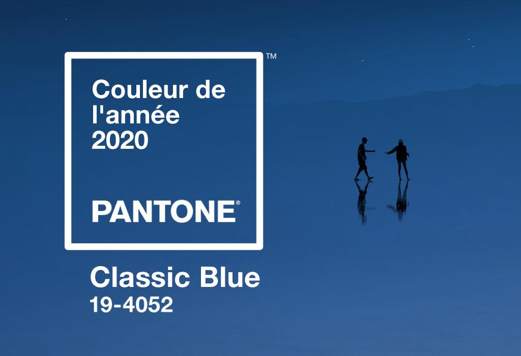 Couleur de l'année de Pantone pour 2020 en Classic Blue